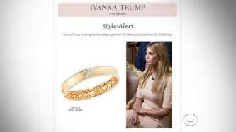 nordstrom engagement rings ivanka takes for hawking 10 800 bracelet worn on quot 60 minutes quot cbs news