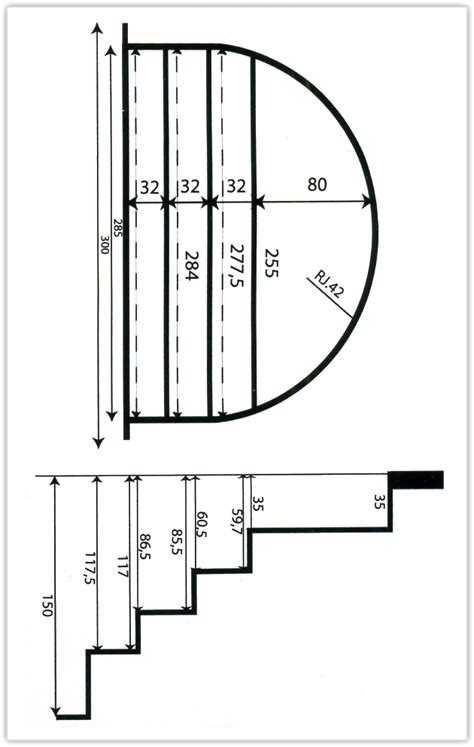 escalier roman h 1 50m largeur 3m en polyester sous liner