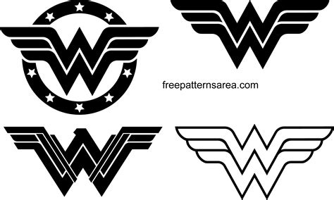 Wonder Woman Logo Symbol and Silhouette Vector ...
