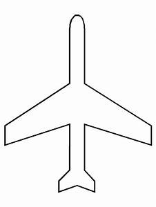 free coloring pages of cut out plane With cut out airplane template