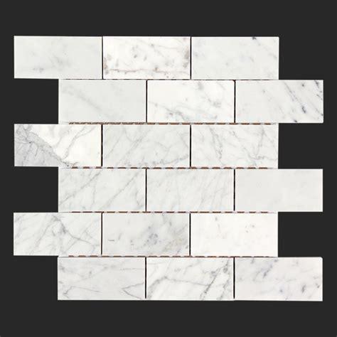bianco carrara white marble 2x4 tile modern