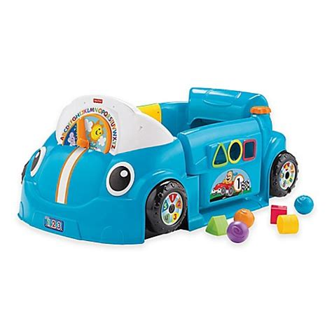 siege auto fisher price fisher price laugh learn crawl around car in blue