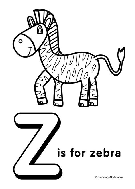 letter z coloring pages alphabet coloring pages z letter words for kids printable projects