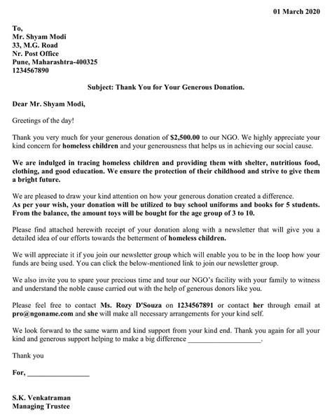 They come in ms doc and pdf file formats. Download Donation Thank You Letter Excel Template ...