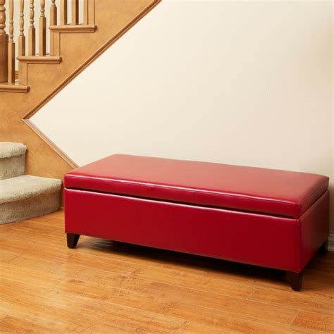 living room ottoman with storage living room leather storage ottoman bench ebay
