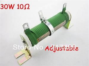 30w 10 Ohm 5  Resistance Tolerance Adjustable Type Wire