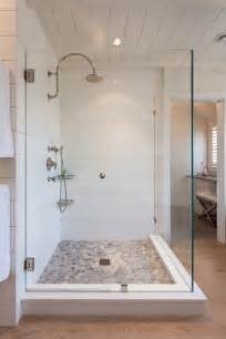 beautiful vinyl flooring that looks like ceramic tile with custom shower alongside with