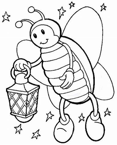 Coloring Bug Lightning Pages Cliparts Clipart Insect