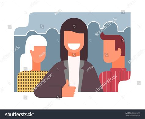 Good Collective Office Work Flat Style Stock Vector
