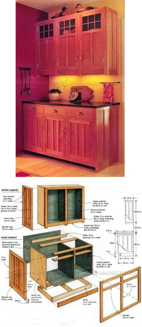 kitchen cabinets plans furniture plans  projects