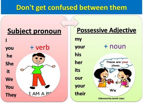 personal pronouns  poss adjectives lovelearn