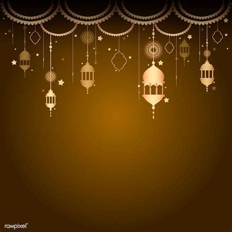 premium vector  eid mubarak lantern background
