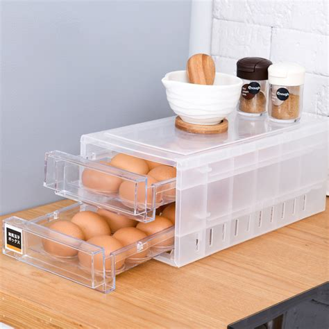 Draw Design Kitchen Egg Storage Rack Refrigerator Freezer