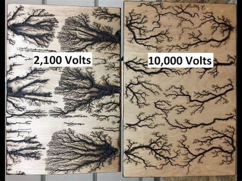 lichtenberg device  fractal wood burning youtube