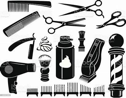Barber Tools Scissors Equipment Comb Vector Pole