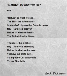 Emily Dickinson Poem On Nature