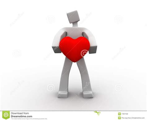 man holding  heart symbol royalty  stock images