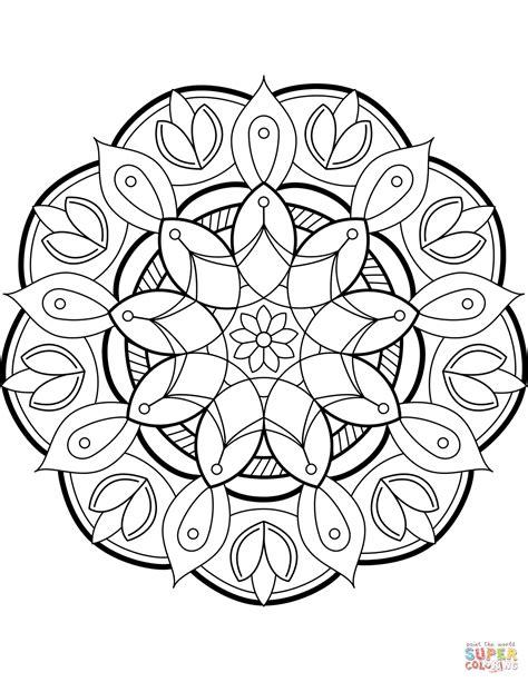 Coloring Mandala by Flower Mandala Coloring Page Free Printable Coloring Pages