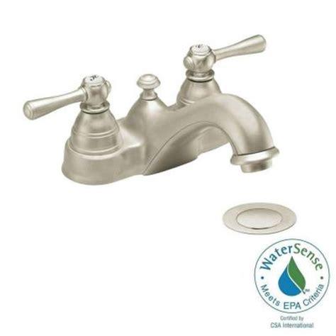 Moen Kingsley Bathroom Faucet Brushed Nickel by Moen Kingsley 4 In 2 Handle Bathroom Faucet In Brushed