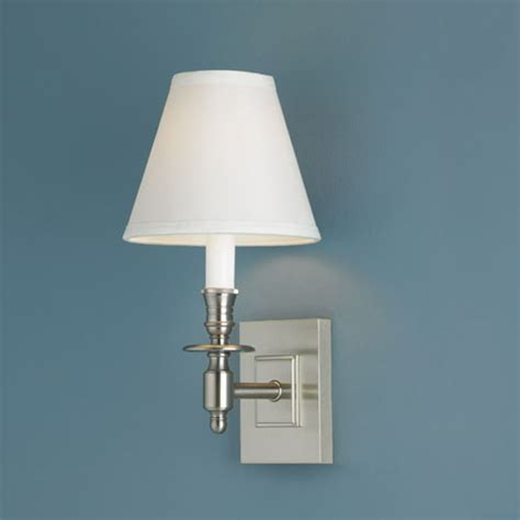 weston brushed nickel single light wall sconce norwell 1