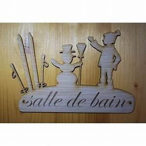 Plaques De Portes : plaque de porte pancarte en bois grav e salle de bain ~ Melissatoandfro.com Idées de Décoration