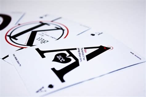 love  fonts typographic playing cards gearfuse