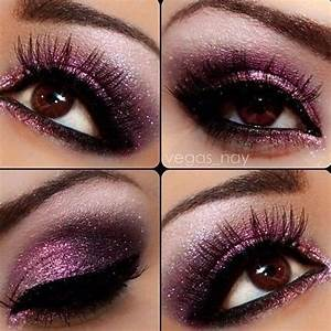Makeup for brown eyes. Dramatic purple. | BEAutiful ...