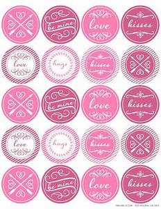 Round valentine39s day themed printable label design for 2 round label template 20 per sheet