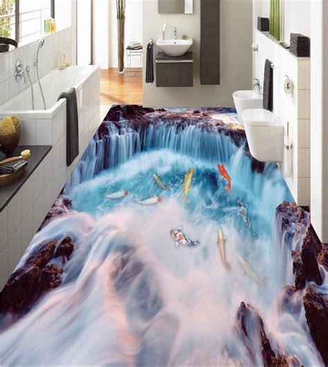 flooring custom waterproof  adhesion   waterfall