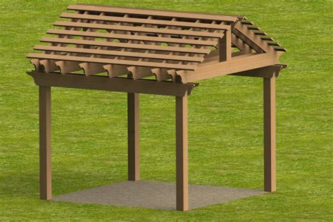 yard and garden pergola with gable roof building plans ebay
