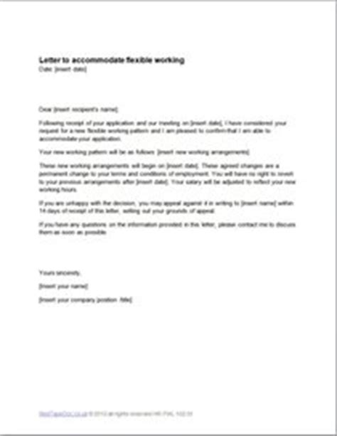 accommodate flexible working letter template