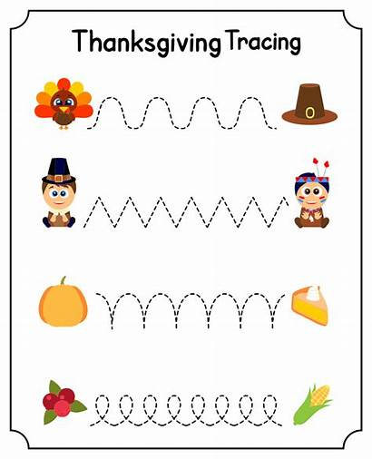 Thanksgiving Worksheet Worksheets Printable Printables Coloring Kindergarten