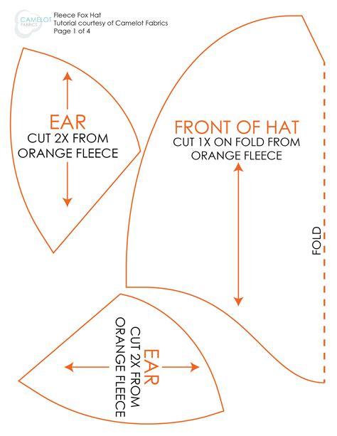 Fleece Hat Template by How To S Day Diy Costume Fleece Fox Hat