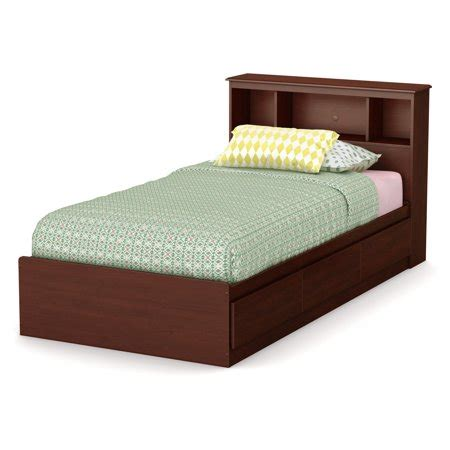 Bookcase Headboard With Drawers by South Shore Treasures Mates Bed With Drawers