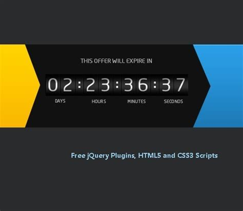 colorful countdown timer jquery ccounter jquery plugins