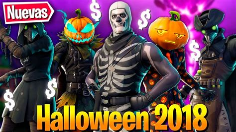 filtradas todas las skins de halloween  fortnite