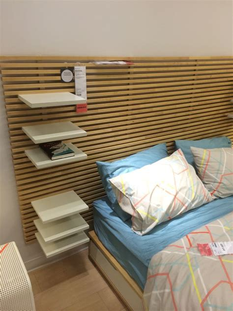 ikea mandal headboard and adjustable shelves tables etc