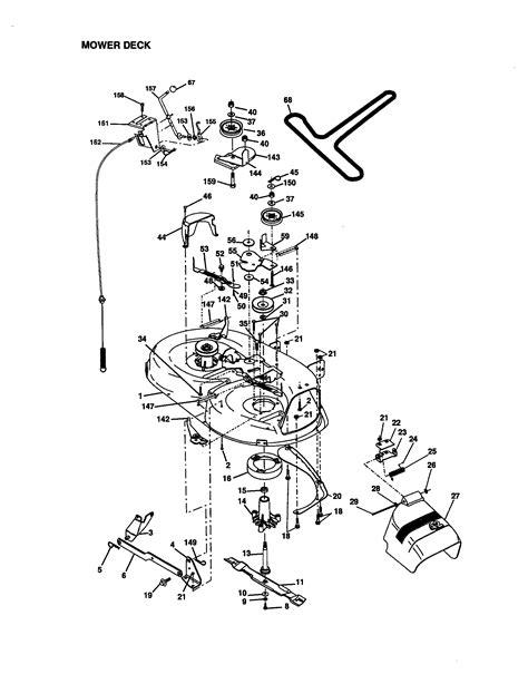 Craftsman Lt1000 Deck Belt Diagram by Craftsman Lt1000 Mower Deck Diagram Images