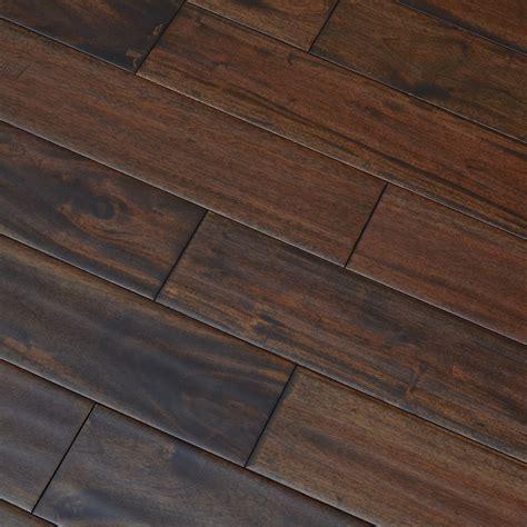 Antique Handscraped Mahogany Lacquered Solid Wood Flooring