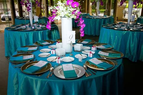 pin  jenny    style wedding tablecloths teal