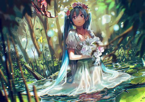 Papel De Parede Adesivo Anime Hatsune Miku Vocalloid Mk08