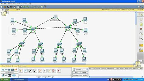 Vlan , Vtp & Dhcp On Cisco Switch Through Packet Tracer 5