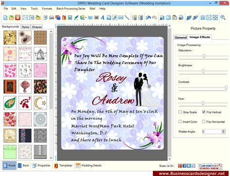 screenshots  wedding card designer software  learn