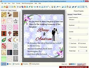 Screenshots of wedding card designer software to learn how for Wedding invitation maker program