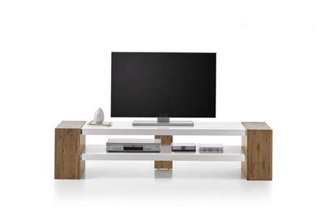 meuble tv blanc et bois meuble tv bois et blanc laqu 233 design pour salon