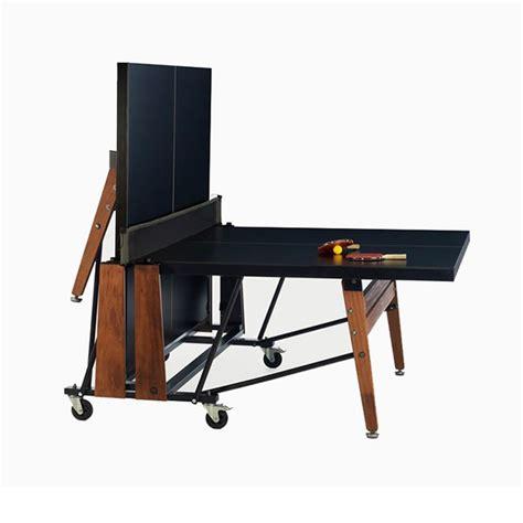 table de ping pong a roulettes rs folding jardinchic