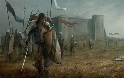 Medieval Fantasy Knight Soldiers Rycerz Mitologia Sztuki