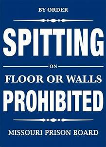 NO SPITTING Tin Signs, Metal Signs | Sold at EuroPosters