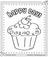 Coloring Cupcake Pages Birthday Happy Printable Cupcakes Sheets Cake Colouring Projectsforpreschoolers Activity Nice Toys Crafts Table sketch template