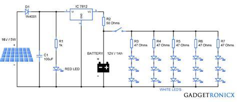 Solar Garden Lights Circuit Gadgetronicx